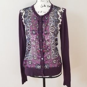 New York & Company Knit Sheer longsleeve Cardigan